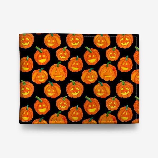 Кошелек «Паттерн хеллоуиновские тыквы»