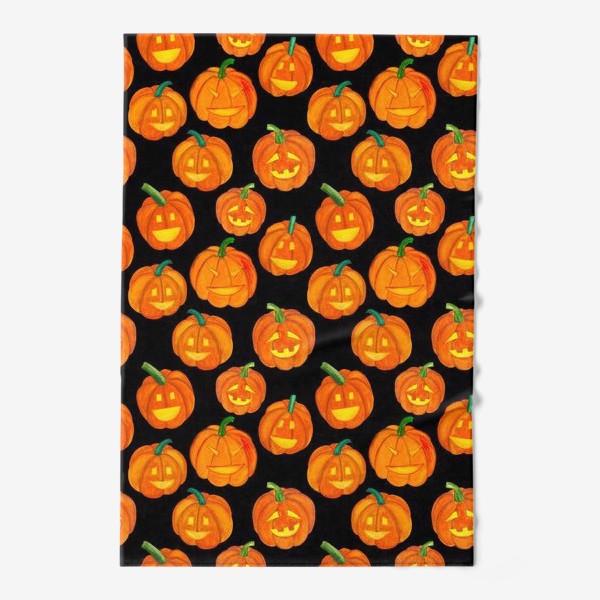 Полотенце «Паттерн хеллоуиновские тыквы»
