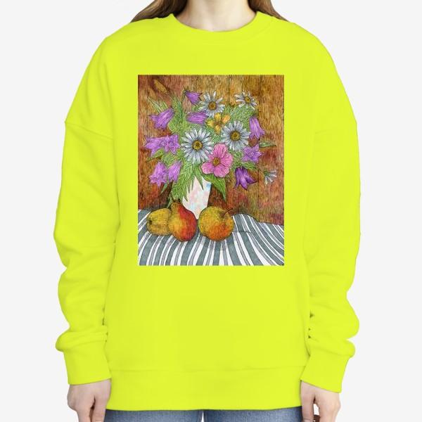 Свитшот «Яркий букет цветов»