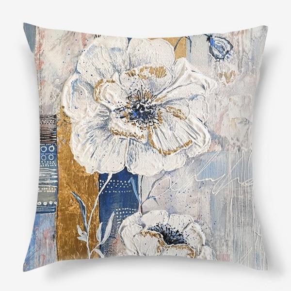 Подушка «Живописные цветы»