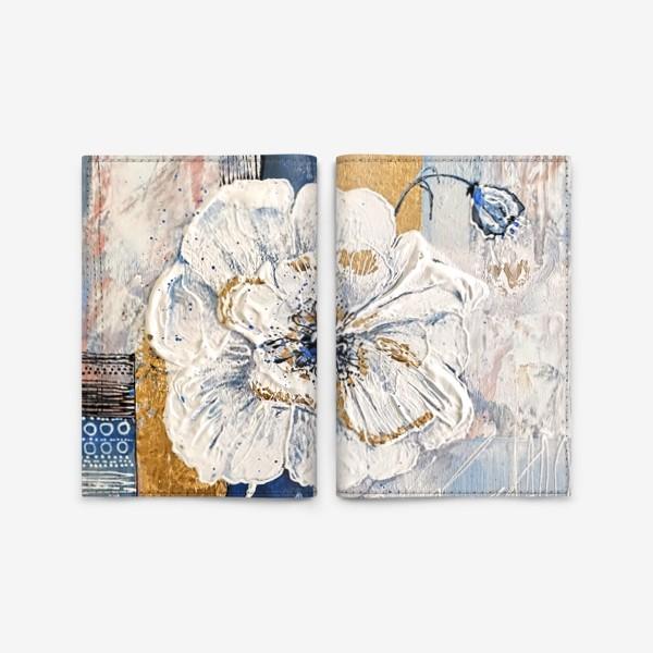 Обложка для паспорта «Живописные цветы»