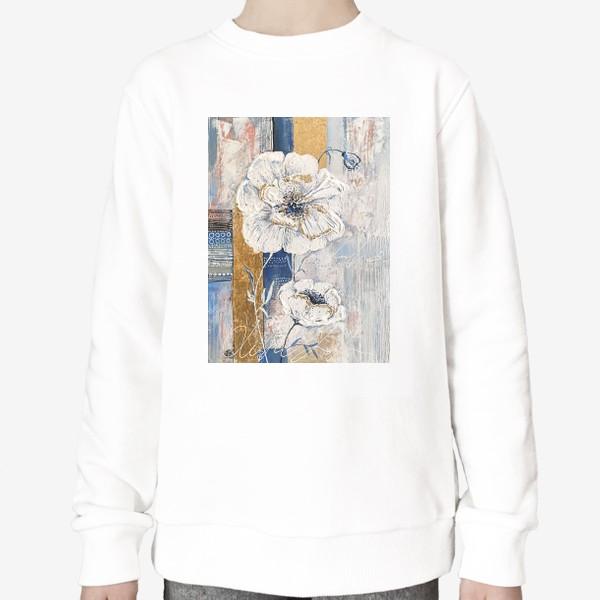 Свитшот «Живописные цветы»