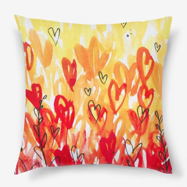 Подушка «Тёплые сердечки»