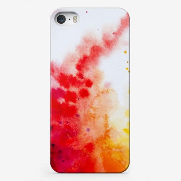 Чехол iPhone «Акварель в осенних тонах»