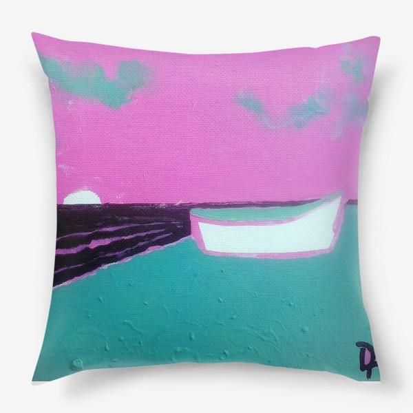 Подушка «pink лодка))»