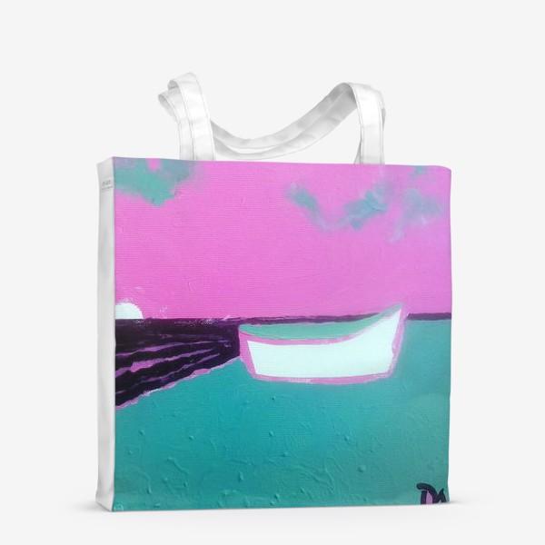 Сумка-шоппер «pink лодка))»
