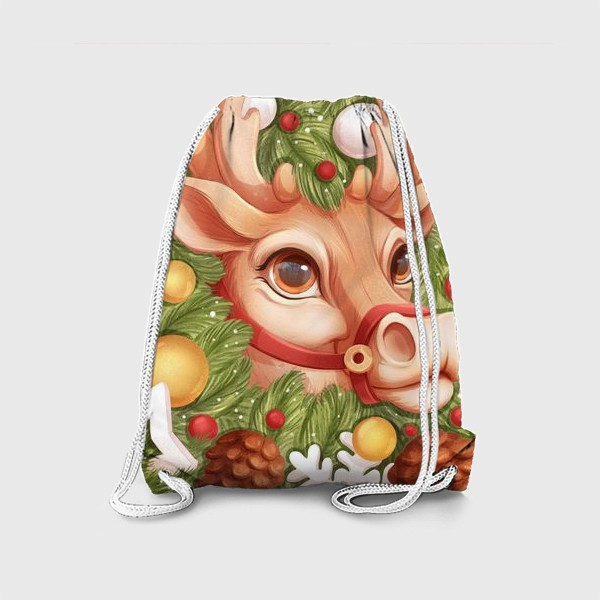 Рюкзак «Олень Санты»
