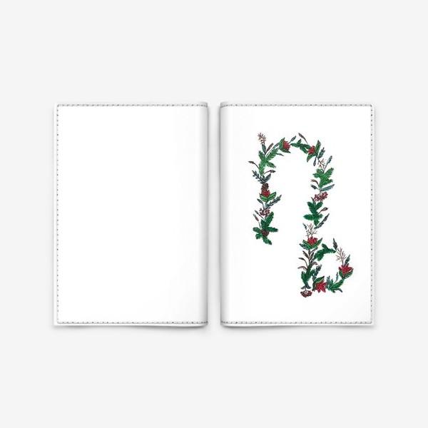 Обложка для паспорта «Козерог. Цветы»
