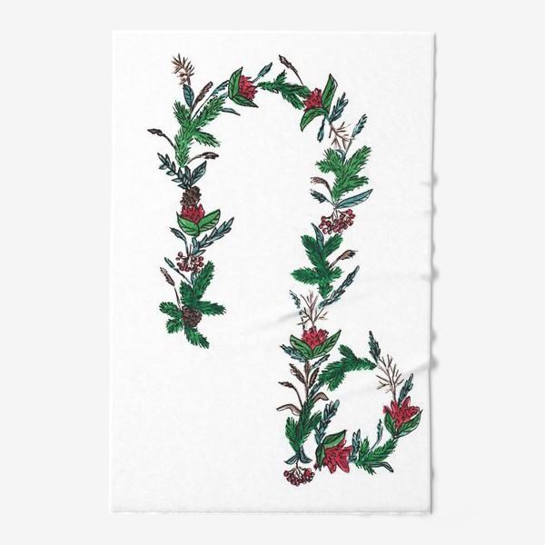 Полотенце «Козерог. Цветы»