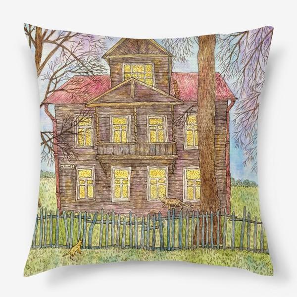 Подушка «Осенний дом»