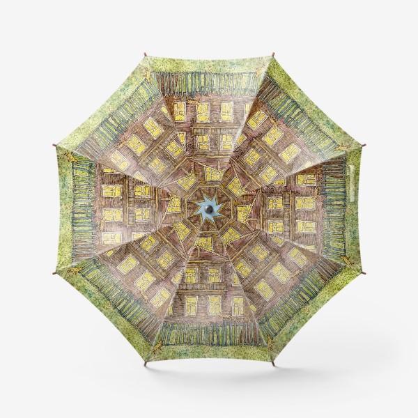 Зонт «Осенний дом»