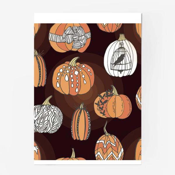 Постер «Стильные тыквы»