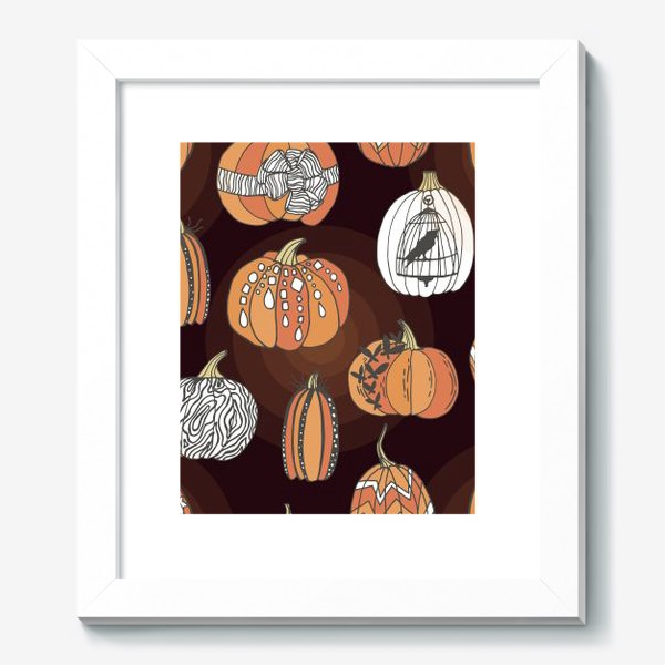 Картина «Стильные тыквы»