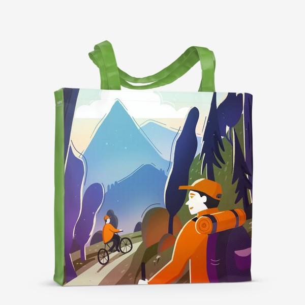 Сумка-шоппер «Путешествие. Горы. Туризм»
