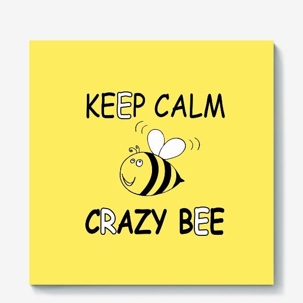 Холст «ЗАБАВНАЯ ПЧЕЛКА . CRAZY BEE»