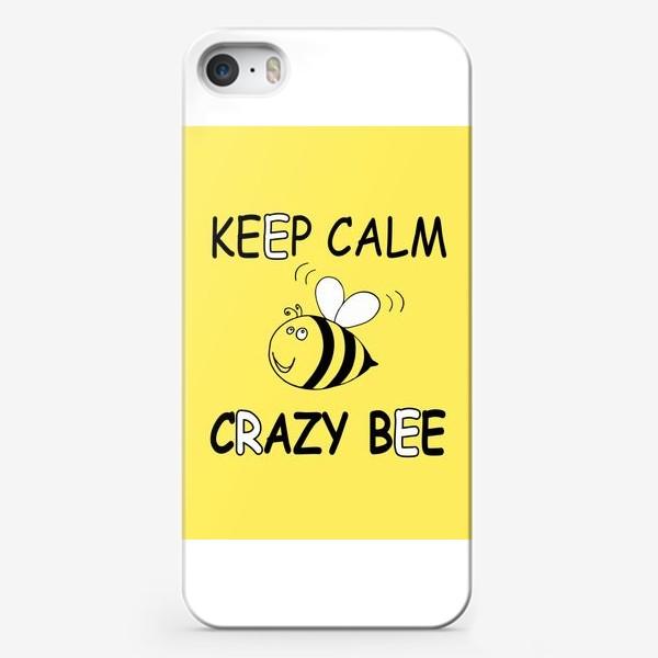 Чехол iPhone «ЗАБАВНАЯ ПЧЕЛКА . CRAZY BEE»