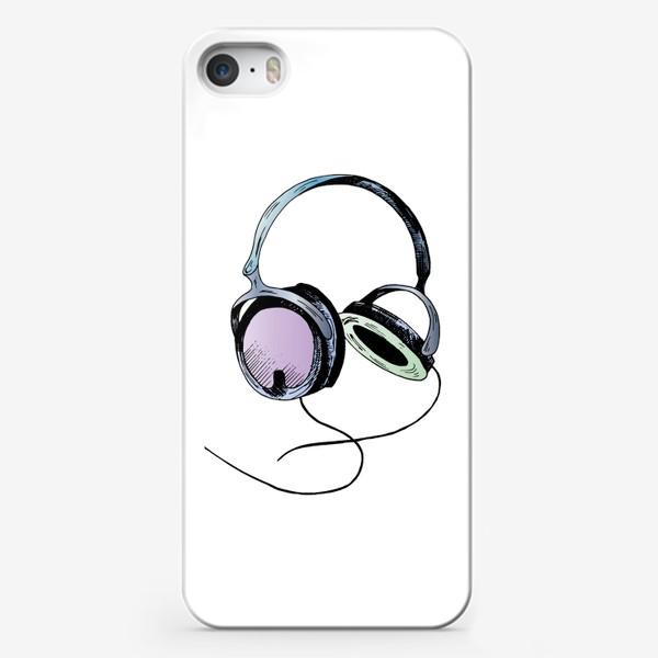 Чехол iPhone «Наушники. Цветной скетч»
