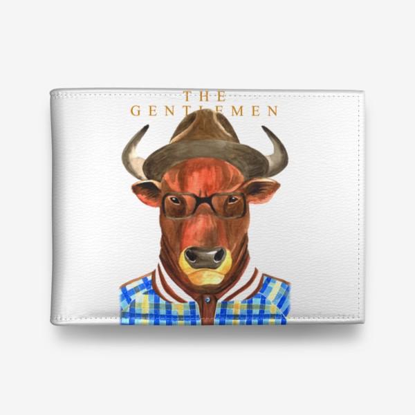 Кошелек «Джентельмены. Тренер. Символ года - бык. Без фона»