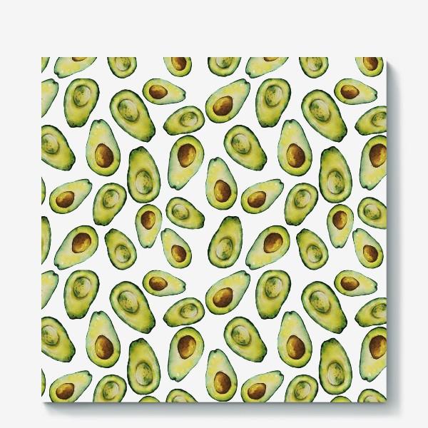 Холст «Акварельные авокадо»