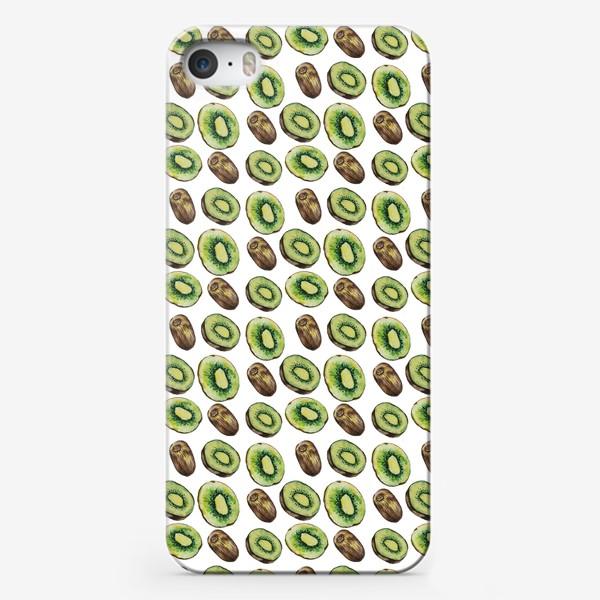 Чехол iPhone «Акварельные киви»