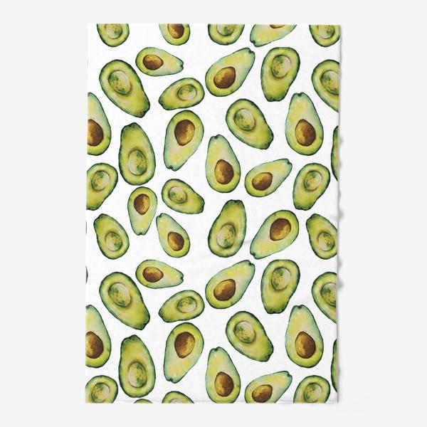 Полотенце «Акварельные авокадо»