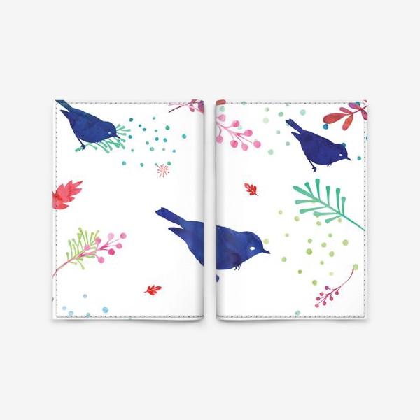 Обложка для паспорта «Коллекция Pillow talk: Birds blue»