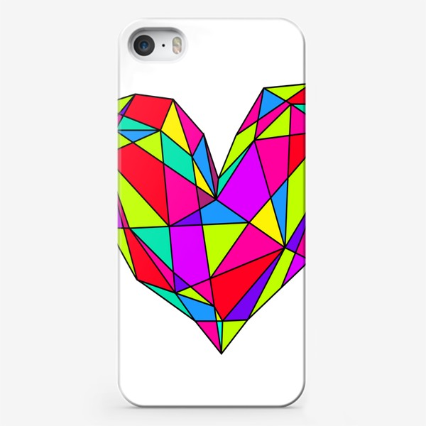 Чехол iPhone «неоновое сердце»