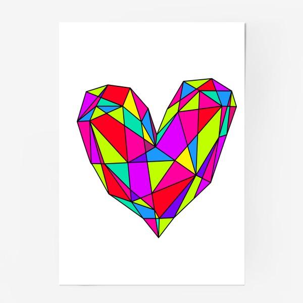Постер «неоновое сердце»