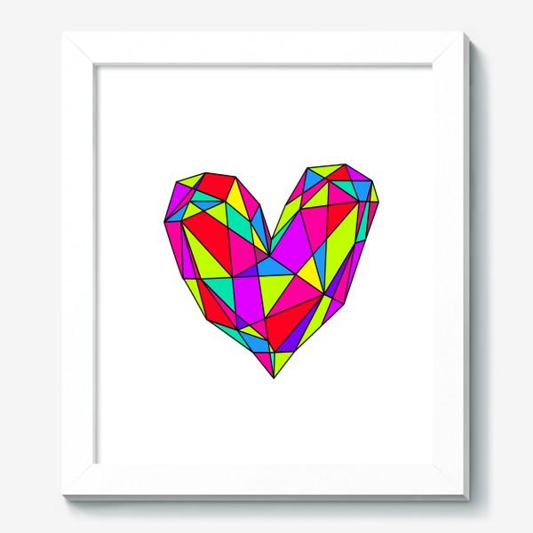 Картина «неоновое сердце»