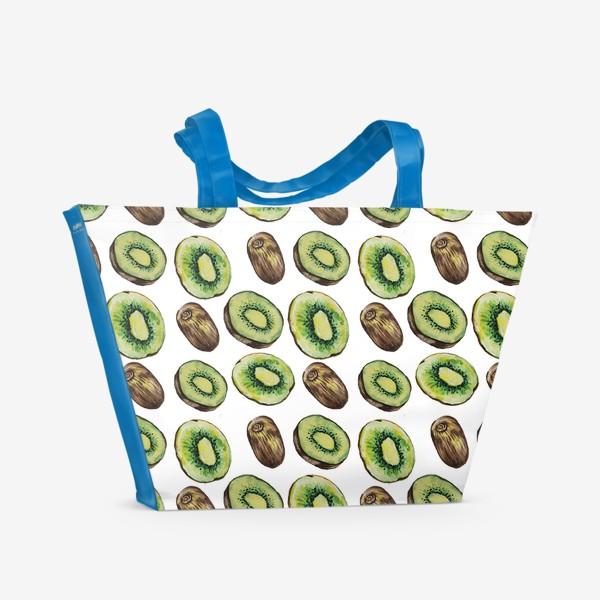 Пляжная сумка «Акварельные киви»
