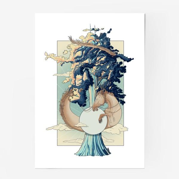 Постер «Dragon horse»