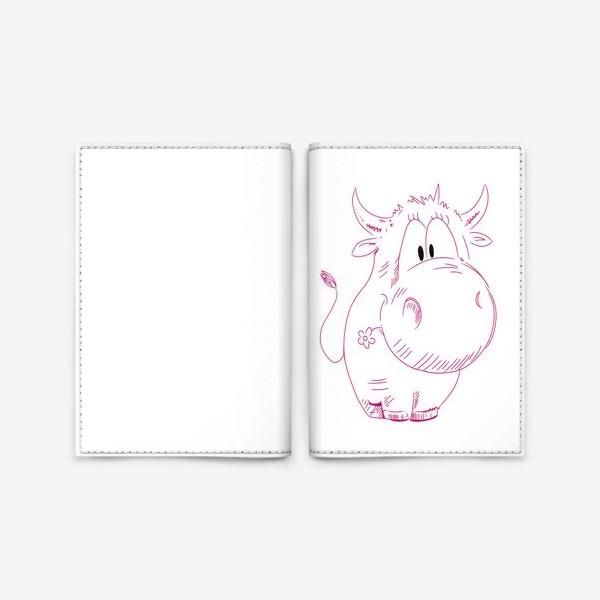 Обложка для паспорта «Бычок»