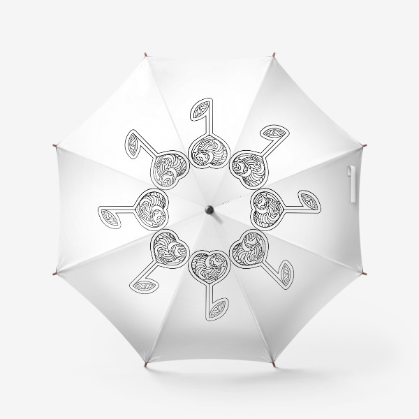 Зонт «Сердце - цветок»