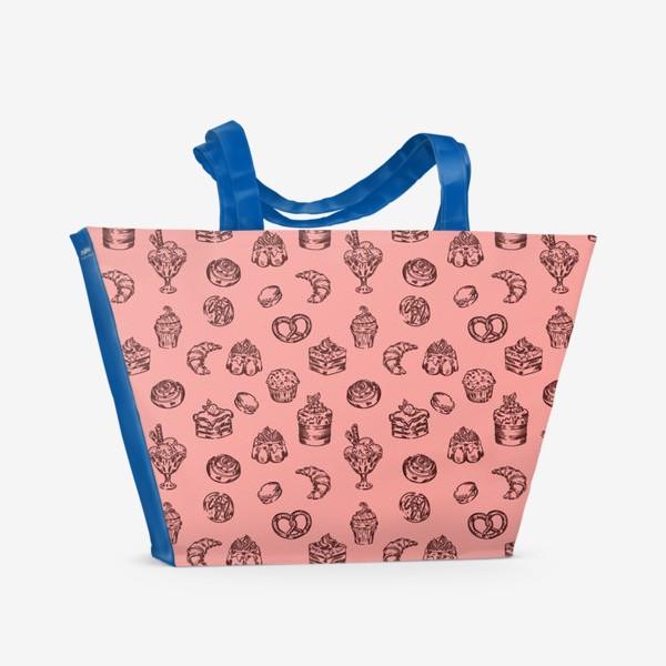 Пляжная сумка «Сладкий паттерн »