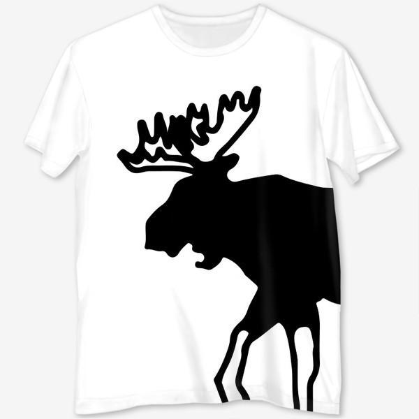 Футболка с полной запечаткой «Лось - символ Скандинавии, символ Аляски»