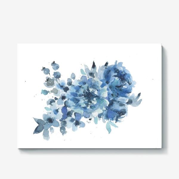 Холст «Синие цветы»