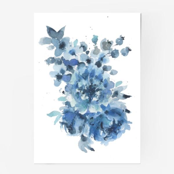 Постер «Синие цветы»