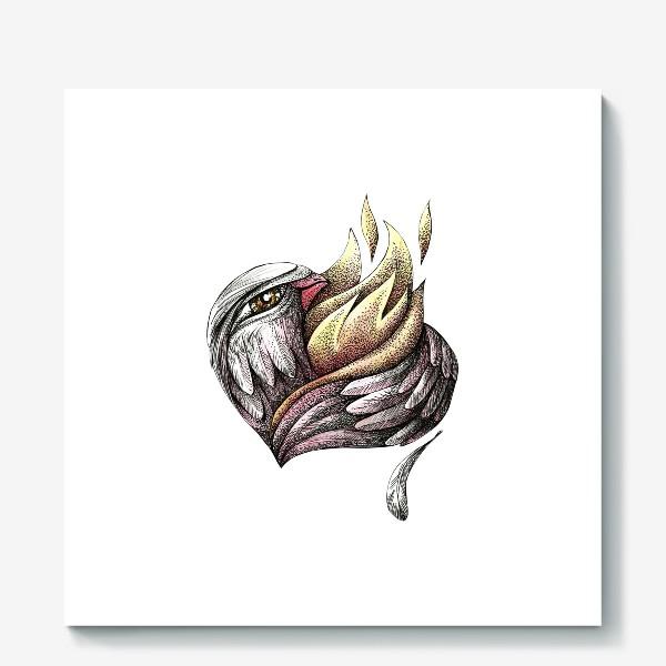 Холст «Пылающее сердце»