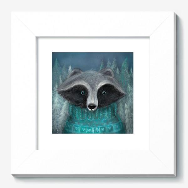 Картина «Енот в лесу»