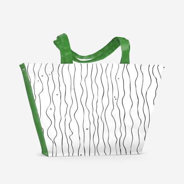 Пляжная сумка «Абстрактный рисунок»