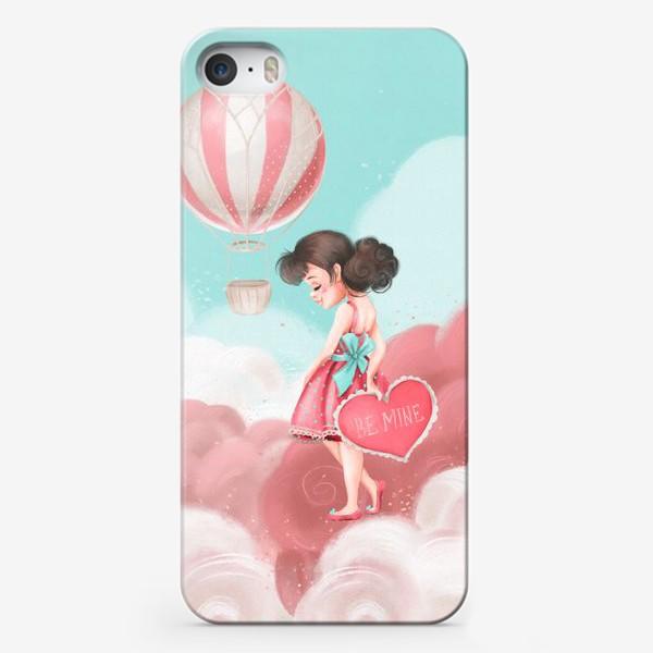 Чехол iPhone «Любовь, девушка, воздушный шар»