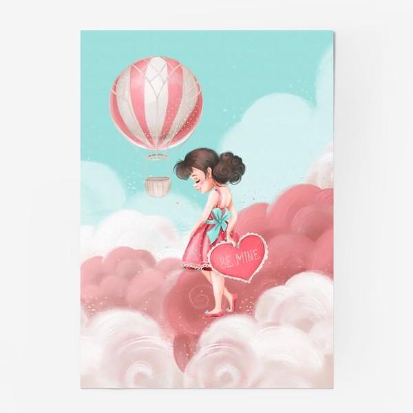 Постер «Любовь, девушка, воздушный шар»