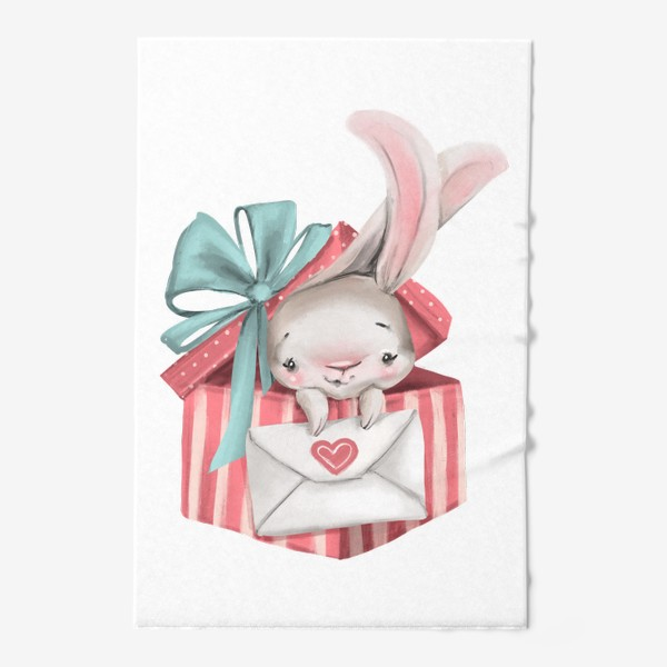 Полотенце «Любовь, заяц, подарок»