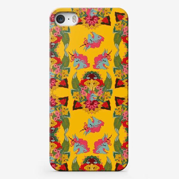 Чехол iPhone «Гавайский единорог, паттерн»
