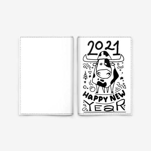 Обложка для паспорта «Happy New Year 2021»
