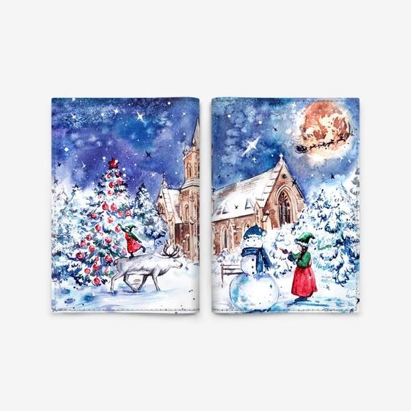 Обложка для паспорта «зимние забавы»