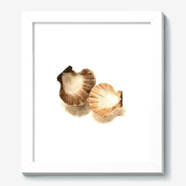 Картина «Две акварельные ракушки.»