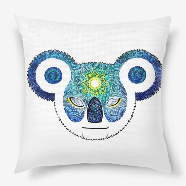 Подушка «Медитирующая Дудл Коала (Meditator Koala)»