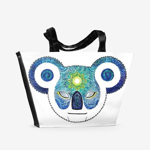 Пляжная сумка «Медитирующая Дудл Коала (Meditator Koala)»