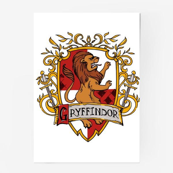 Постер «Герб факультета Гриф цветной.Лев. G Crest»